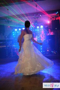 Oryginalna koronkowa suknia ślubna