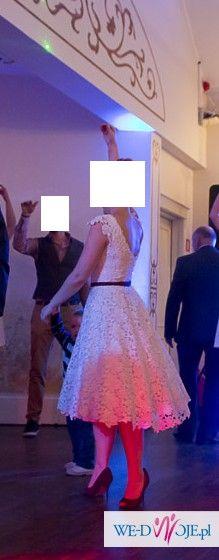 Oryginalna sukienka z salonu Violi Piekut, rozm. 36