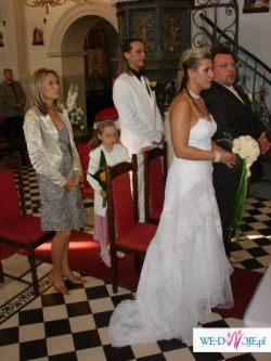Oryginalna ,suknia ślubna Cymbeline Marine de Paris