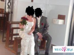 Oryginalna Suknia Ślubna dwu częściowa