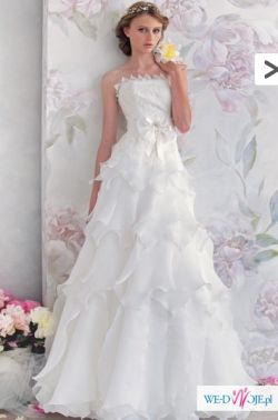 Oryginalna suknia ślubna Papilio #1035 - GRATIS halka i bolerko!