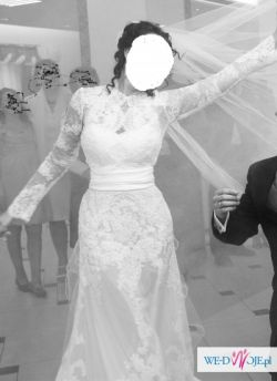 Oryginalna suknia ślubna projektanta Zuhair Murad+TREN+Gratis bolerko i futerko