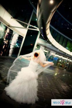 Oryginalna,suknia ślubna szyta na miarę!! ZOBACZ!!TANIO