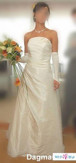 Rewelacyjny Oryginalna suknia ślubna z salonu Hermago w Tarnowie - Suknie ZJ65