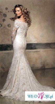 """Oryginalna, zjawiskowa, hiszpańska suknia  z kolekcji Pronovias, model """"Onice"""","""