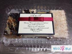 paczki weselne / podziękowania dla gości / torciki