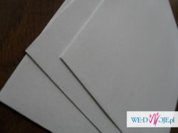 paier i koperty perłowe zaproszenia SLUB WESELE