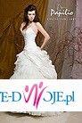 Papilio-przepiękna bogata krótko-długa suknia ślubna, dwa kolory: ecru i biel