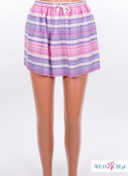 Pastelowa spódniczka mini w paski