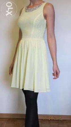 pastelowa sukienka ze zdobieniem, 34/36, xs/s