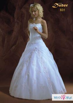 Piękna  BAJKOWA suknia e-cru + dodatki