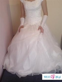 Piękna biała ślubna rozmiar36 sprzedam cena do negocjacji