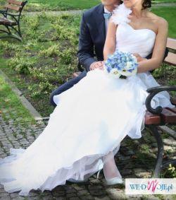 Piękna biała suknia od Madeline Gardner New York- 38/40