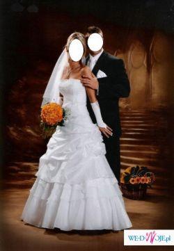 Piękna biała suknia ślubna.................!!!