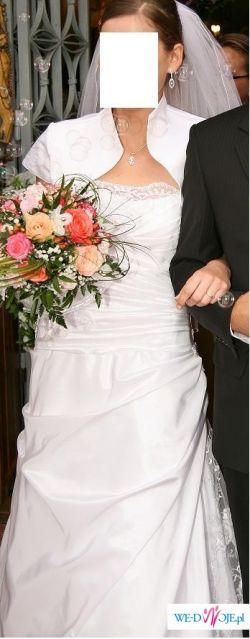 Piekna biała suknia Ślubna!!!