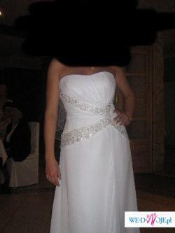 Piękna, biała suknia ślubna
