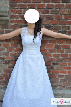 Piękna Biała Suknia Ślubna AGNES