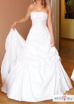 piękna biała suknia ślubna aire barcelona dusseldorf