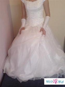 Piękna biała suknia ślubna dla wyjatkowej kobiety!!