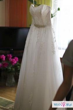 Piękna Biała Suknia ślubna Herms Gaia Suknie ślubne Ogłoszenie
