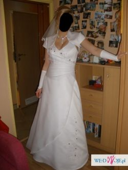 piękna biała suknia ślubna rozmiar 38-40