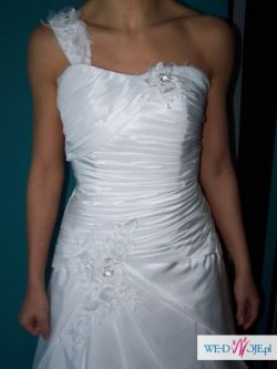 piękna biała suknia ślubna rozmiar 40