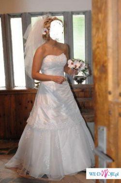 Piękna, biała suknia ślubna Sincerity 3511, używana tylko raz!!