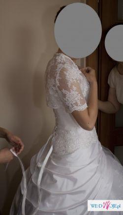 Piękna biała suknia ślubna z welonem - TANIO SPRZEDAM