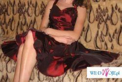 Piękna, bordowa sukienka, rozm.36