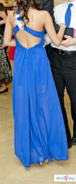 Piękna Chabrowa Suknia Balowa Długa Z Szalem!