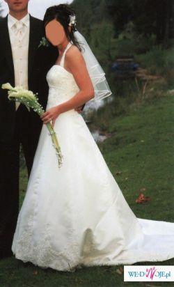 Piękna,delikatna suknia ślubna 34/36