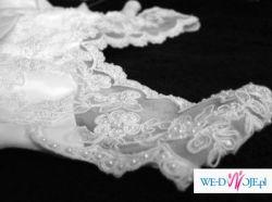 Piękna, delikatna suknia ślubna + dodatki gratis