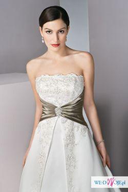 Piękna, efektowna suknia z salonu Lissa Ferrera roz  46, 48