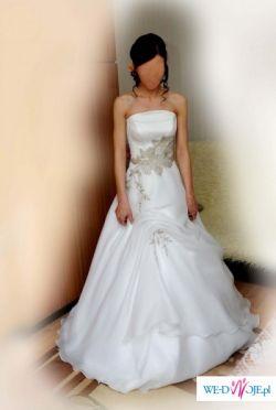 Piękna, elegancka, oryginalna suknia ślubna