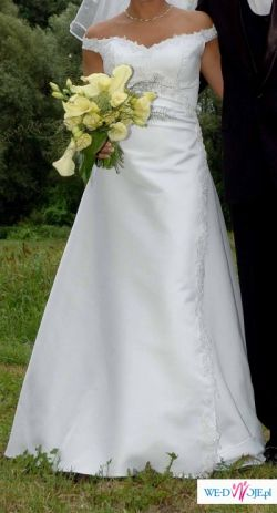 Piekna, elegancka suknia slubna rozmiar 38
