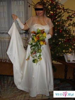 Piękna HAFTOWANA suknia DUŻY ROZMIAR 46/48 dużo dodatków!