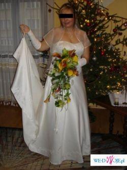Piękna haftowana suknia DUŻY ROZMIAR! ecru DUŻO DODATKÓW!