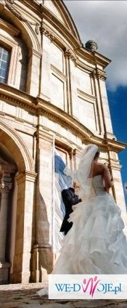 Piękna Hiszpańska Suknia SINCERITY Ecru rozmiar 34/36 + gratisy