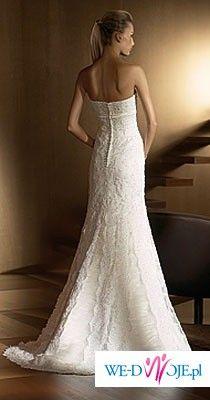 Piękna hiszpańska suknia ślubna + bolerko + buty