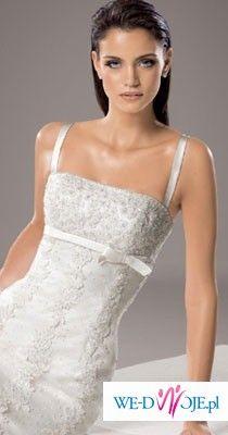 Piękna hiszpańska suknia ślubna White One (Madonna)