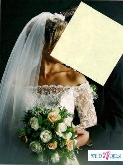 Piękna HISZPAŃSKA suknia ślubna z koronką