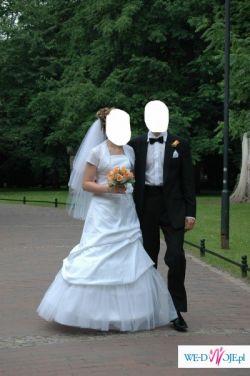 Piękna i elegancka suknia ślubna r. 38