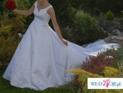 Piękna i subtelna sukienka ślubna - rozmiar 36-38 TANIO ! Bielsko-Biała