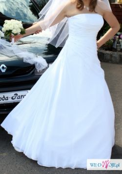 Piękna i subtelna suknia ślubna White One Teresa - kształt A - Bielsko-Biała