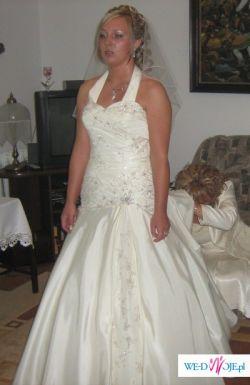 ***Piękna jednoczęściowa Suknia Ślubna firmy Justin Alexander***