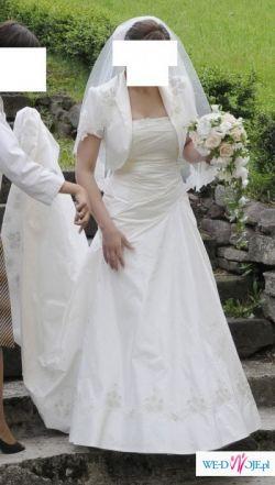 Piękna klasyczna suknia ślubna w rozmiarze 40-42