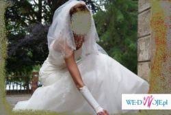 Piękną, kobiecą, elegancką i romantyczną suknię ślubną sprzedam