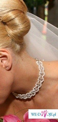 Piękna Kolia z perełkami i diamencikami z salonu Cybeline OKAZJA!!!