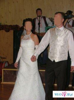 """Piękna, koronika suknia ślubna """"RYBKA"""" + GRATISY"""