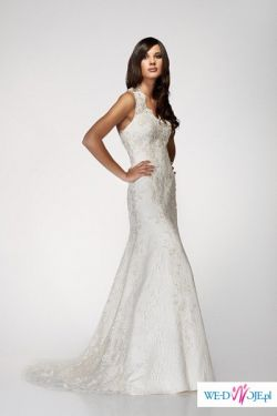 Piękna, koronkowa suknia.